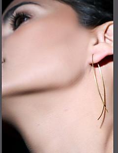 Beszúrós fülbevalók minimalista stílusú Kézzel készített Európai Réz Fekete Ezüst Aranyozott Ékszerek Mert Parti Napi Hétköznapi 1 pár
