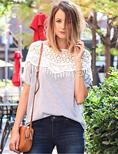 casual crochet cape t-shirt à manches chauve-souris de collier des femmes