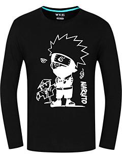 Inspired by Naruto Hatake Kakashi Anime Cosplay Costumes Cosplay Tops/Bottoms Print Black Long Sleeve Top