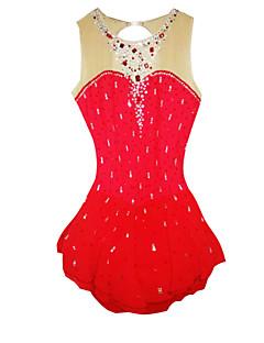Eiskunstlaufkleider Damen Langärmelige Eislaufen Röcke & Kleider / Kleider Eiskunstlauf-Kleid Elastan Rot Skating Wear Outdoor Kleidung