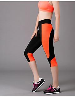 Yoga Pants Crop-tights Åndbart / wicking Naturlig Høj Elasticitet Sport Wear Sort Dame Andre Yoga & Danse Sko / Fitness