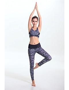Ioga Conjuntos de Roupas/Ternos Secagem Rápida / Materiais Leves / Redutor de Suor / Suave Elasticidade Alta Wear Sports Mulheres-