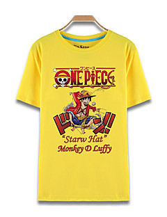 Inspiriert von One Piece Monkey D. Luffy Anime Cosplay Kostüme Cosplay-T-Shirt Druck Kurzarm Top Für Unisex