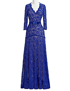 Sheath/Column Mother of the Bride Dress - Floor-length Lace