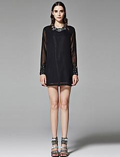 ZigZag® Damen Rundhalsausschnitt Lange Ärmel Shirt & Bluse Schwarz - 11198