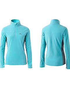 Trilha Blusas Mulheres Respirável / Anti-Estático / Mantenha Quente Primavera / Verão / Outono / Inverno Poliéster Vermelho / Preto / Azul