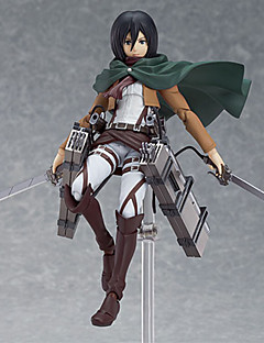 Attack on Titan Mikasa Ackermann PVC Anime Čísla akce Stavebnice Doll Toy
