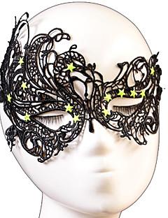 Masker Cosplay Festival/Feestdagen Halloween Kostuums Zwart Effen Masker Halloween Unisex