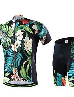 Cycling Jersey with Shorts Women's / Men's / Unisex Short Sleeve BikeBreathable / Quick Dry / Wearable / Compression / 3D Pad / Back
