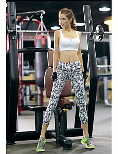 Mulheres Corrida 3/4 calças justas Leggings Calças Respirável Secagem Rápida Compressão Elástico Redutor de Suor Primavera Verão Outono