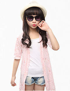 Girl's Green / Pink / White Sweater & Cardigan,Lace Cotton Summer