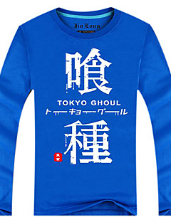 Inspirado por Tokyo Ghoul Ken Kaneki Animé Disfraces de cosplay Tops Bottoms Cosplay Estampado Azul Manga Larga Top