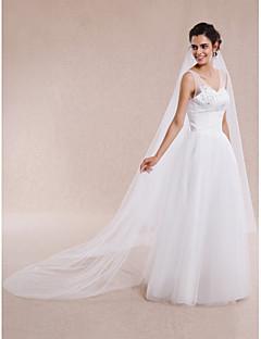 Wedding Veil One-tier Elbow Veils / Fingertip Veils / Chapel Veils / Cathedral Veils Cut Edge