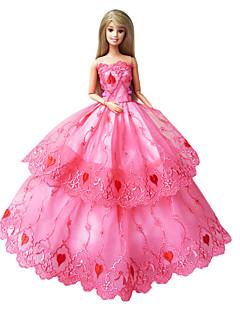Prinzess-Linie Kleider Für Barbie-Puppe Rosa Kleider Für Mädchen Puppe Spielzeug