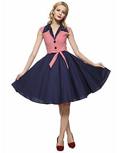 Maggie Tang Women's 50s VTG Retro Nautical Sailor Rockabilly Hepburn Pinup Cos Party Swing Dress 573