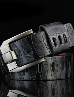 Men Faux Leather Waist Belt,Vintage / Work Alloy All Seasons