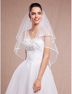 Wedding Veil Two-tier Elbow Veils Tulle White / Ivory