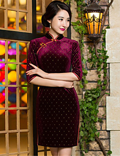 코스프레 코스츔 민족/종교적 페스티발/홀리데이 할로윈 의상 프린트 드레스 새해 여성 테럴린 / 플레우체