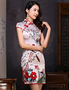 코스프레 코스츔 파티 코스튬 민족/종교적 페스티발/홀리데이 할로윈 의상 프린트 드레스 새해 여성