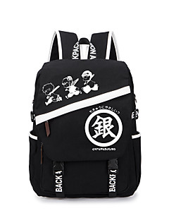 Bag Inspired by Gintama Gintoki Sakata Anime Cosplay Accessories Bag / Backpack Black Canvas Male / Female