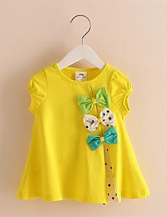 Mädchen T-Shirt-Lässig/Alltäglich Blumen Baumwolle Sommer Grün / Rosa / Lila / Weiß / Gelb
