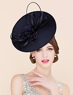 Mulheres Linho Seda Tecido Capacete-Casamento Ocasião Especial Casual Fascinador Chapéus 1 Peça