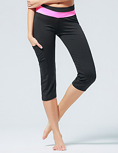 Running Crop / Pants/Trousers/Overtrousers / 3/4 Tights / Bottoms Women's Breathable Polyester / ElastaneYoga / Pilates / Taekwondo /