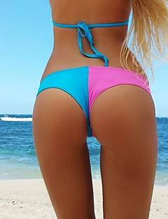 Women's Halter Bottoms,Color Block Polyester Pink / Purple / Blue / Yellow / Orange / Light Green