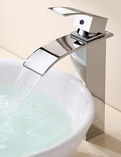 Moderne Bolleservant Foss with  Keramisk Ventil Enkelt Håndtak Et Hull for  Krom , Bathroom sink tappekran