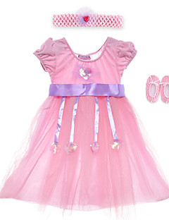 Performance Dresses Children's Performance Spandex / Polyester Sash/Ribbon / Sequins 2 Pieces Sleeveless High Headpieces / Dress 60cm