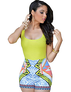Women's  Fashion Print Sexy Backless Casual Jumpsuits,Boho / Holiday Strap Neck Sleeveless
