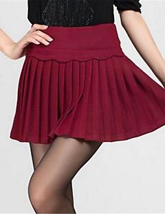 Damen Röcke Mini Nylon Mikro-elastisch