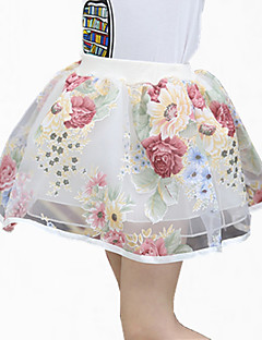 Girl's Black / Pink / White / Gray Skirt,Lace Polyester Summer