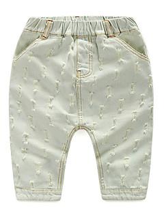 Ensfarvet Drengens Bukser Sommer Bomuld