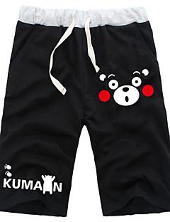 Innoittamana Kumamon Cosplay Anime Cosplay-asut Cosplay Tops / Bottoms Yhtenäinen Musta Shortsit