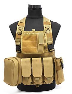 molle tactische vest airsoft paintball combat vest w / tijdschrift zakje + nut tas af te geven armor carrier vest