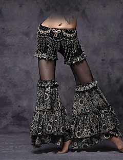 Belly Dance Bottoms Women's Performance Viscose Draped / Pattern/Print / Ruched 1 Piece Dropped Pants M:92   L:95