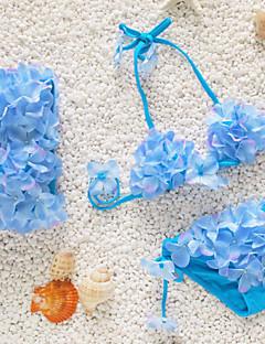 Maillot de Bain Fille de Fleur Plage Acrylique Toutes les Saisons Bleu / Vert / Rose / Violet / Rouge / Blanc