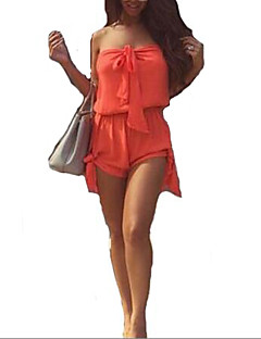 Polyester-Micro-elastisch-Dun-Vrouwen-Casual / Vakantie-Jumpsuits-Mouwloos