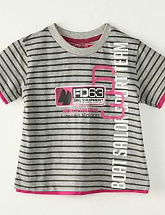 T-shirt-Chłopca-Lato-Prążki-Poliester