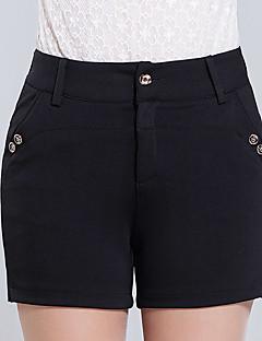 Eenvoudig-Polyester-Micro-elastisch-Kort-Broek-Vrouwen