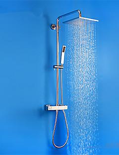 シャワー水栓-現代風-サーモスタットタイプ / レインシャワー-真鍮(クロム)