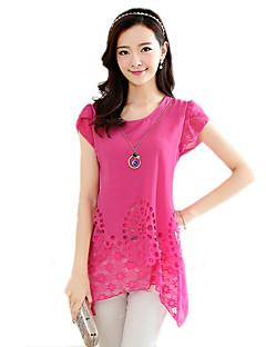 2016 Summer Women New Fashion Loose Short-Sleeved Chiffon Shirt
