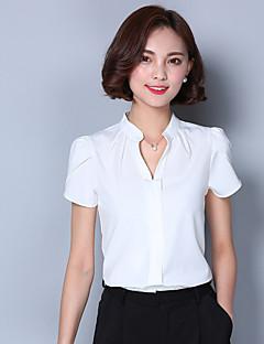 2016 Summer New Women's White Chiffon Shirt