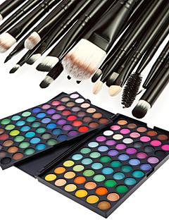 120 szín profi vakító matt&csillogó szemhéjfesték smink 3in1 kozmetikai paletta 20 szemhéjfesték ecset készlet