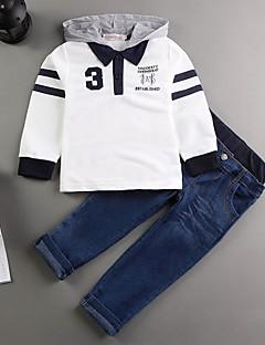 Menino de Jeans / Conjunto Primavera / Outono Algodão Patchwork Menino de