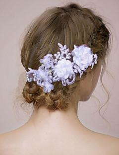 Dame / Blomsterpige Satin / Imiteret Perle Medaljon-Bryllup / Speciel Lejlighed Pandebånd / Blomster 1 Stykke