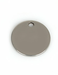 Charms Metal Round Shape som billede 50Pcs