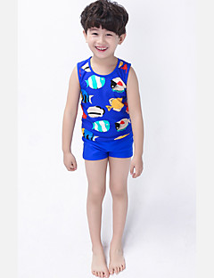 Boy's Polyester Swimwear,Summer Animal Print
