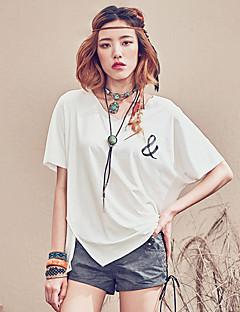 Aporia.As® Damen V-Ausschnitt Kurze Ärmel Shirt & Bluse Weiß-MZ04012